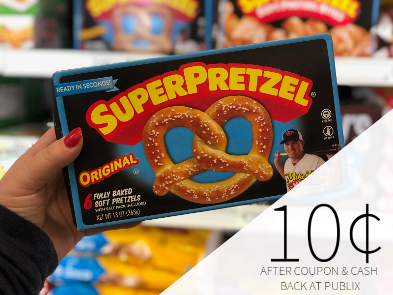SuperPretzel Soft Pretzels Just 10¢ Per Box At Publix on I Heart Publix