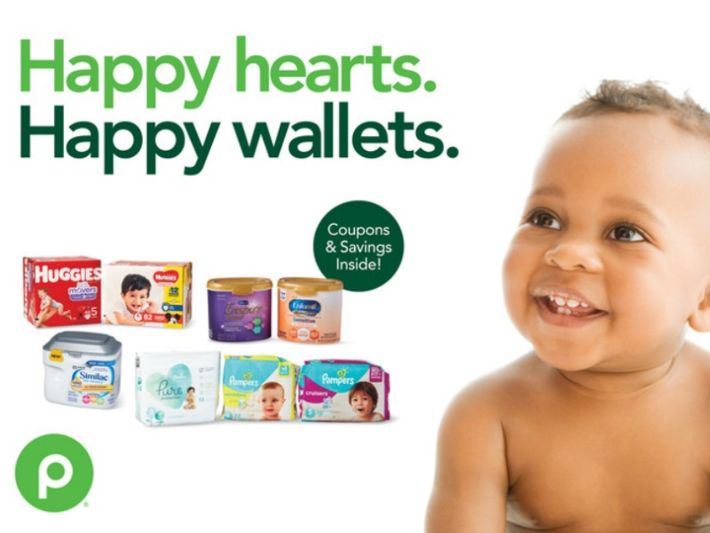 "New Baby Booklet - ""Happy Hearts. Happy Wallets."" Coupons Valid Through 2/26 on I Heart Publix"