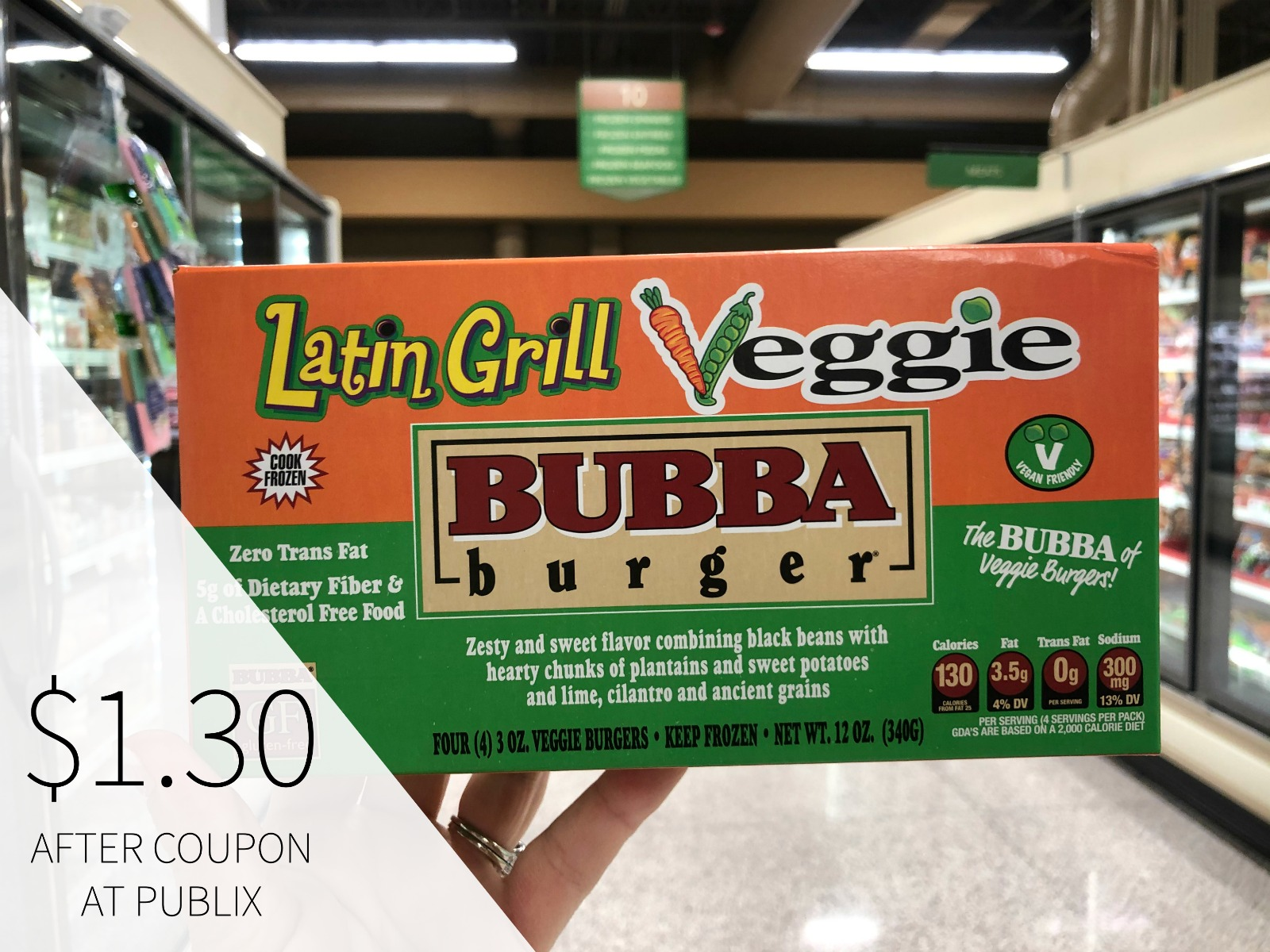 Bubba Veggie Burgers Just $1.35 At Publix on I Heart Publix 2