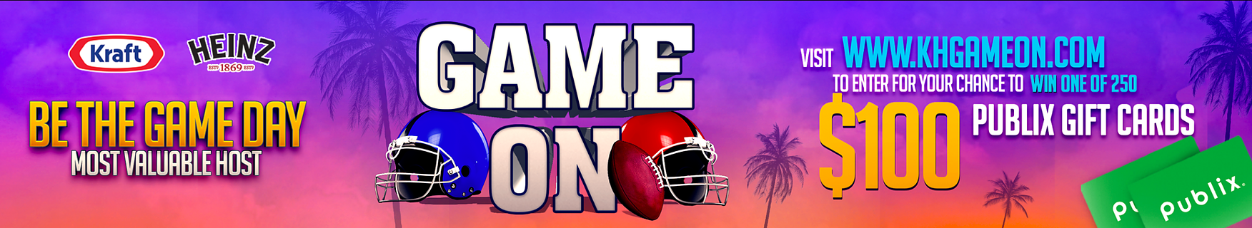 Game On - Get Ready For The Big Game And Enter To Win One Of 250 $100 Publix Gift Cards! on I Heart Publix