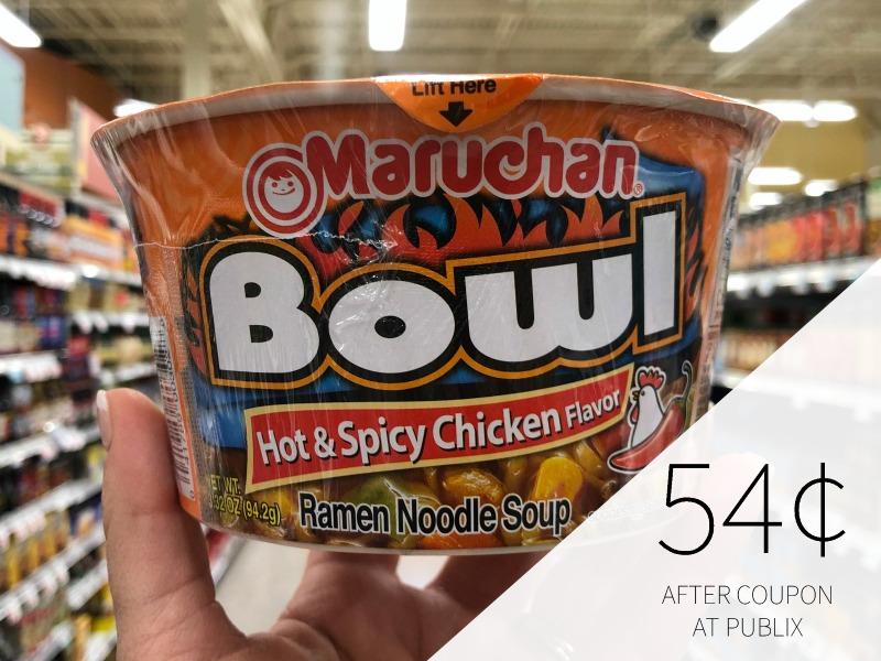 Maruchan Bowls Just 46¢ Each At Publix on I Heart Publix 1