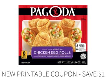 New Pagoda Egg Rolls Coupon - Save $1 on I Heart Publix