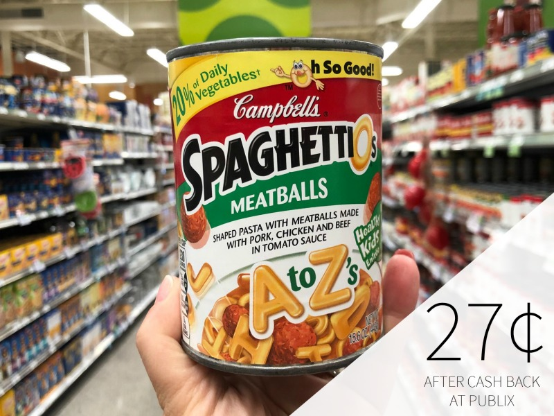 Campbell's SpaghettiO's Just 44¢ Per Can At Publix on I Heart Publix 1