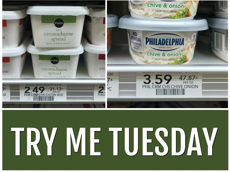 Try Me Tuesday - Publix Cream Cheese on I Heart Publix