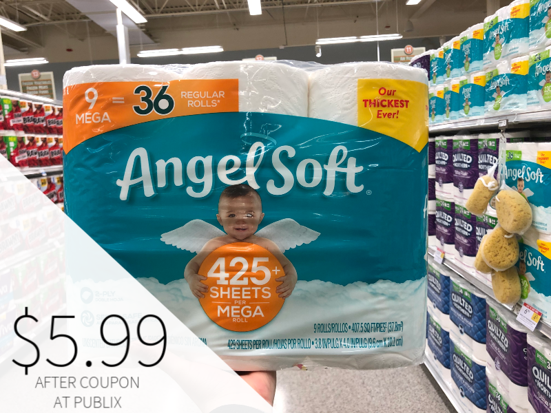 Angel Soft Bathroom Tissue Only $5.99 At Publix on I Heart Publix