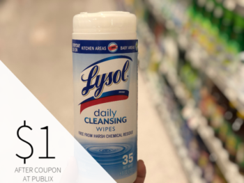 Lysol Disinfecting Wipes Only $1 At Publix on I Heart Publix 1