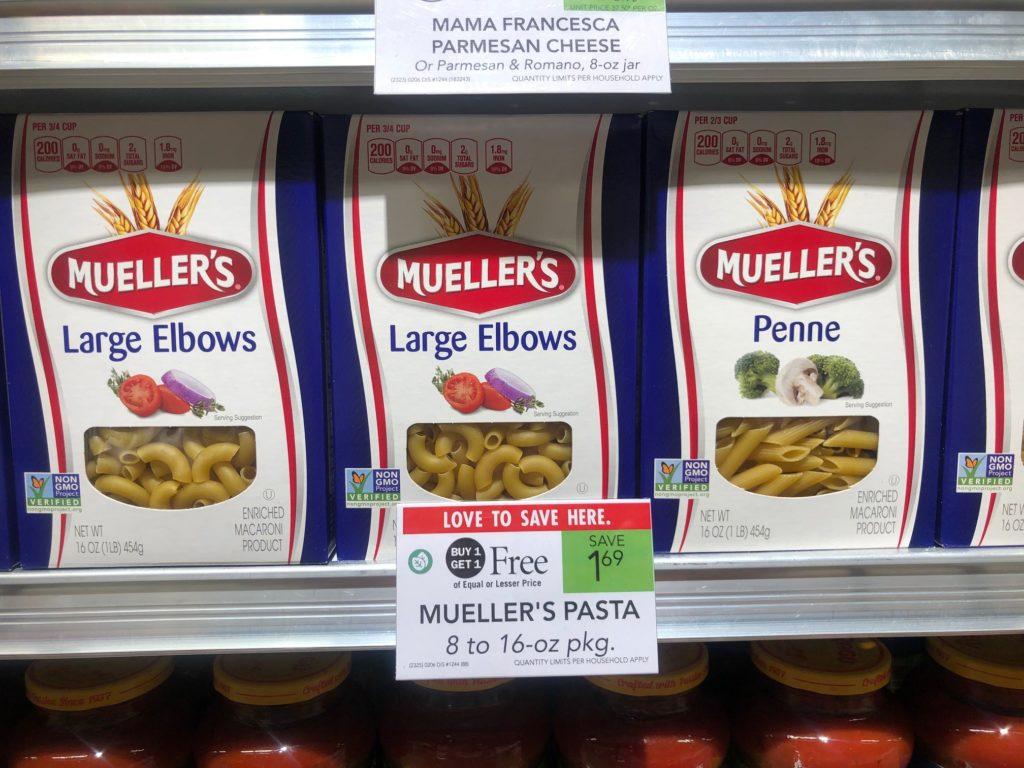 Mueller's Pasta Just 35¢ Per Box At Publix on I Heart Publix