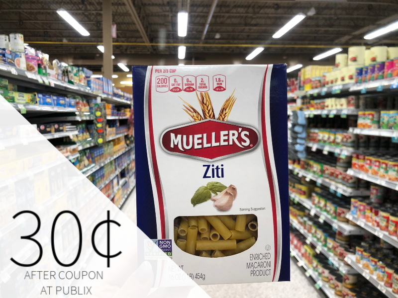 Mueller's Pasta Just 35¢ Per Box At Publix on I Heart Publix 1