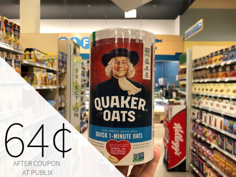 Quaker Oats Canister Just $1.15 At Publix on I Heart Publix
