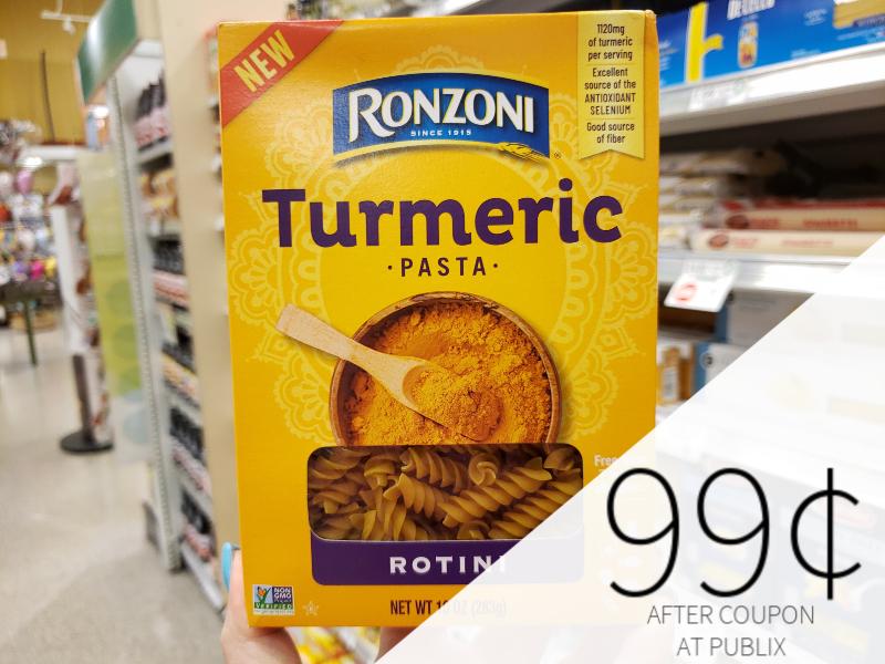 Ronzoni Cauliflower & Turmeric Pasta Just 99¢ At Publix on I Heart Publix