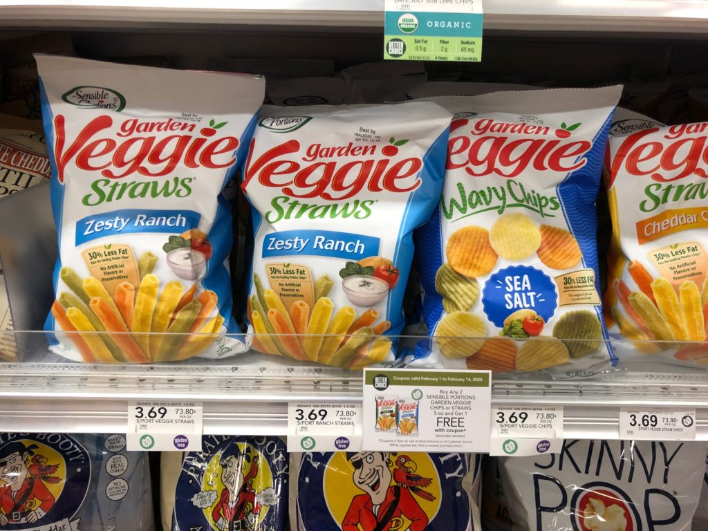 Sensible Portions Garden Veggie Straws Or Chips Only on I Heart Publix 1