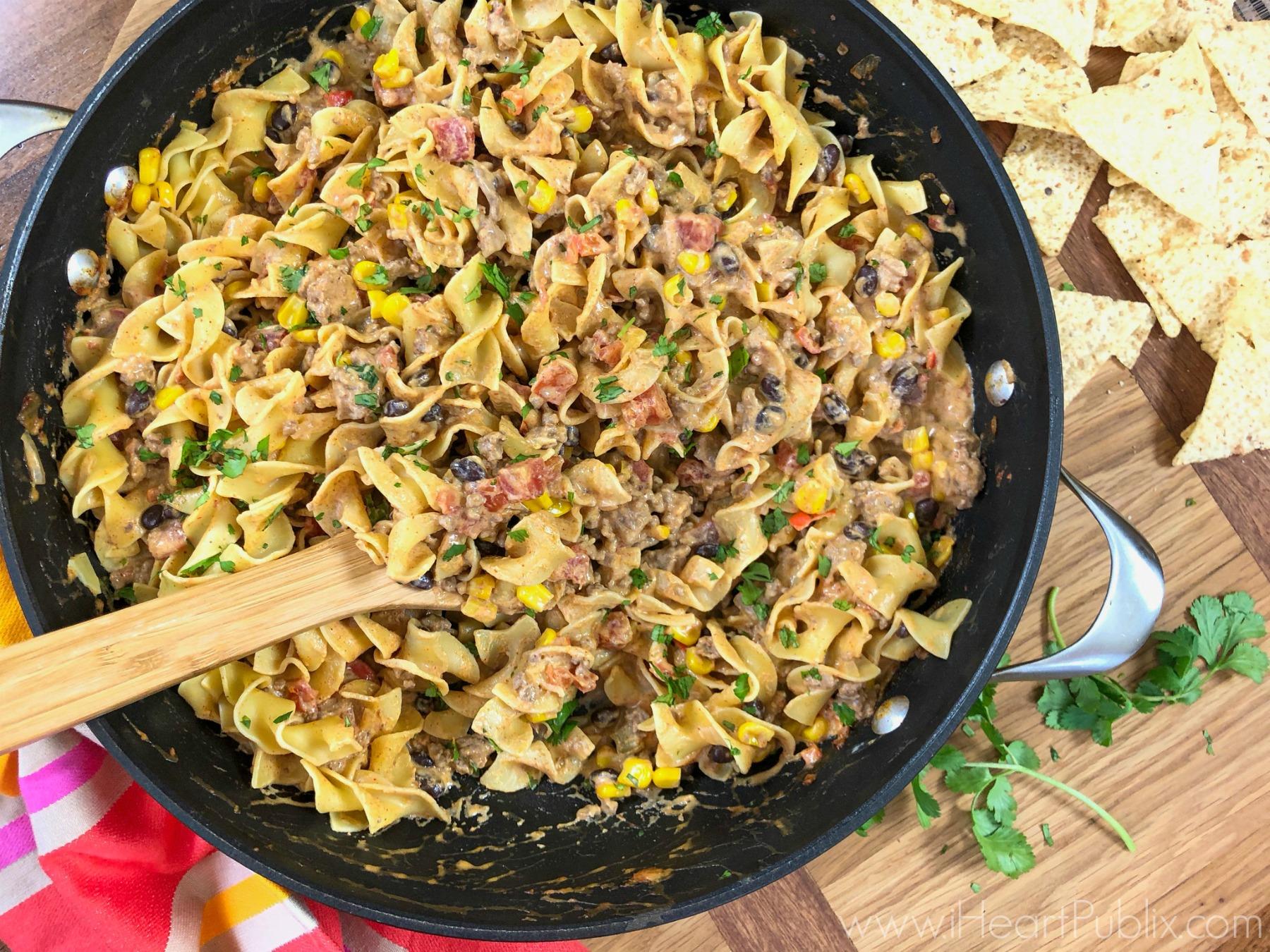Taco Stroganoff - Super Meal For The Light 'n Fluffy® Egg Noodles BOGO Sale! on I Heart Publix