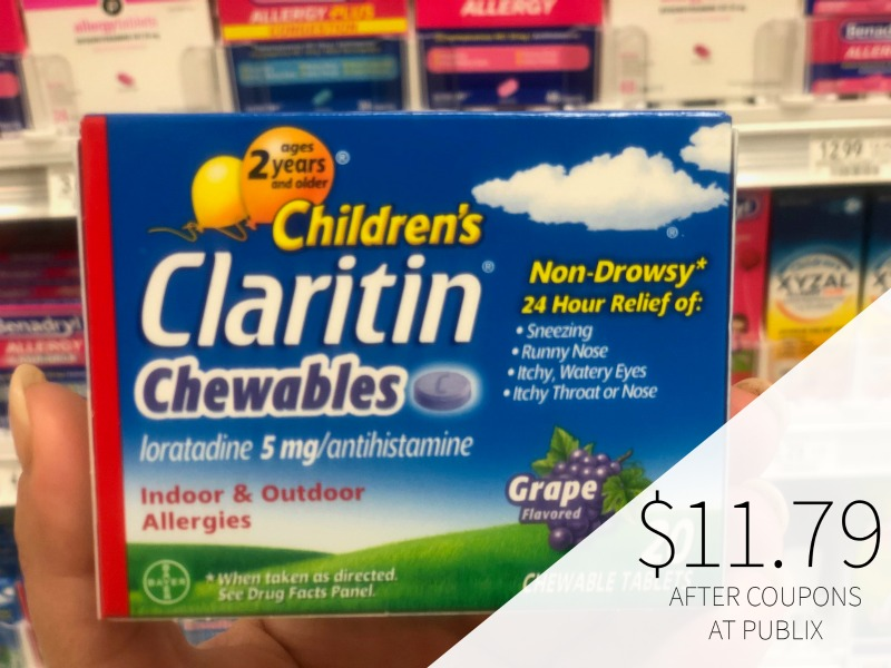 New Claritin Coupons To Print - Claritin Children's Chewables Just $11.79 (Save $8!) on I Heart Publix