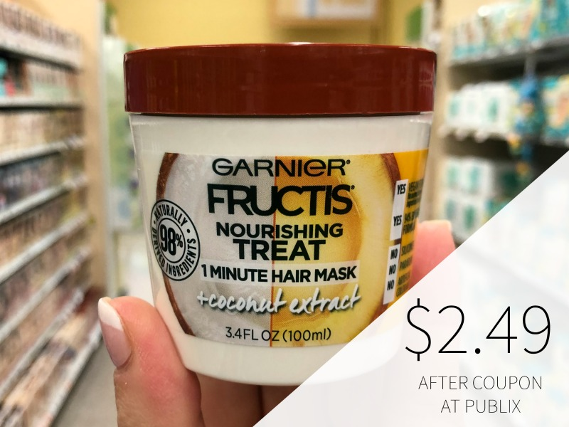 Garnier Treat Hair Mask Just 99¢ At Publix (+ Cheap Shampoo/Conditioner) on I Heart Publix 1