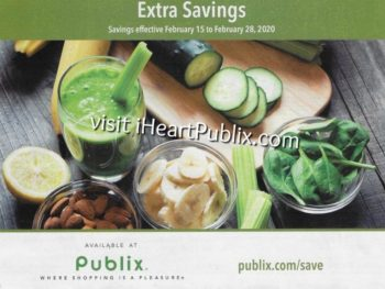 "Publix Grocery Advantage Buy Flyer – ""Extra Savings"" Valid 2/15 to 2/28 on I Heart Publix"