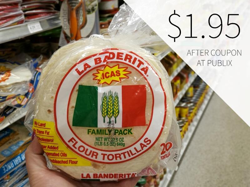 New La Banderita Digital Coupon - Family Size Flour Tortillas Just $1.95 on I Heart Publix 1