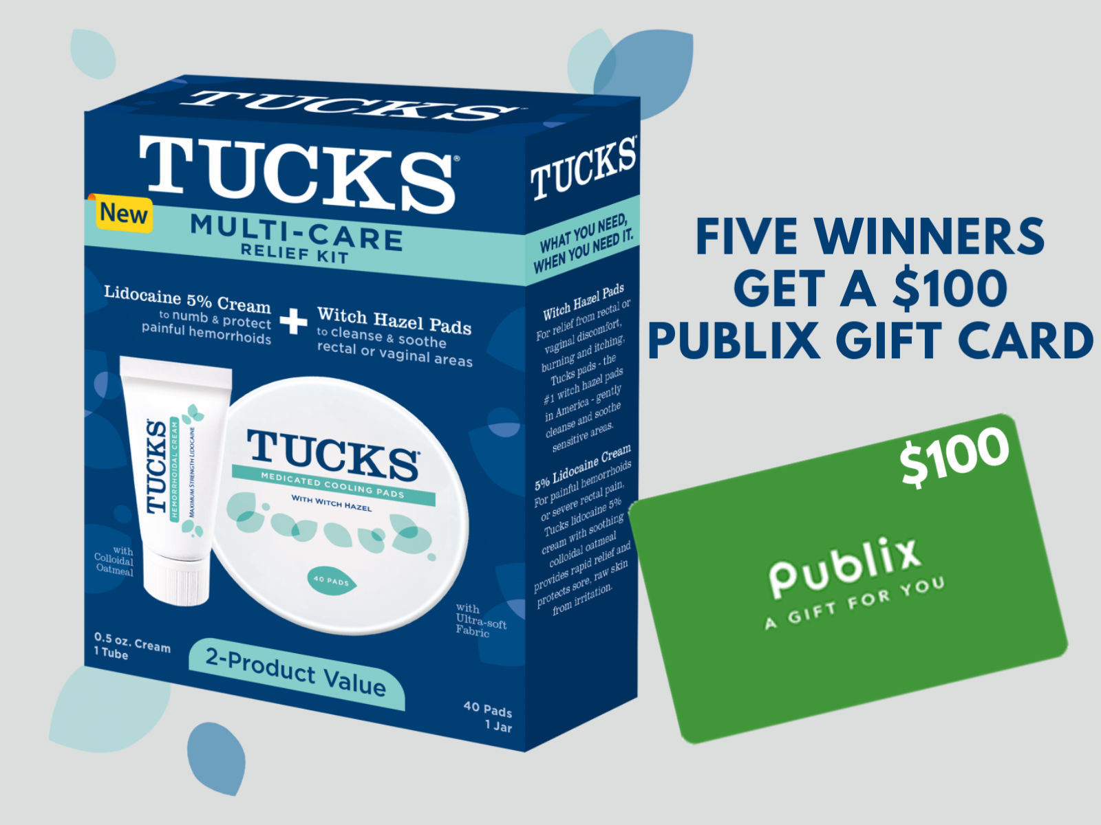 Look For Tucks Multi-Care Relief Kit At Publix + Enter To Win One Of Five $100 Publix Gift Cards! on I Heart Publix