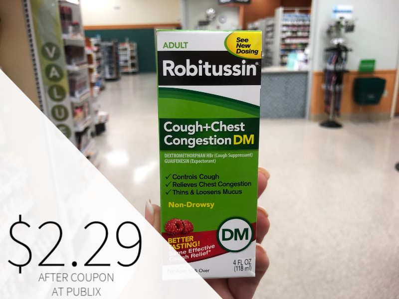 Adult Robitussin Only $2.29 At Publix on I Heart Publix