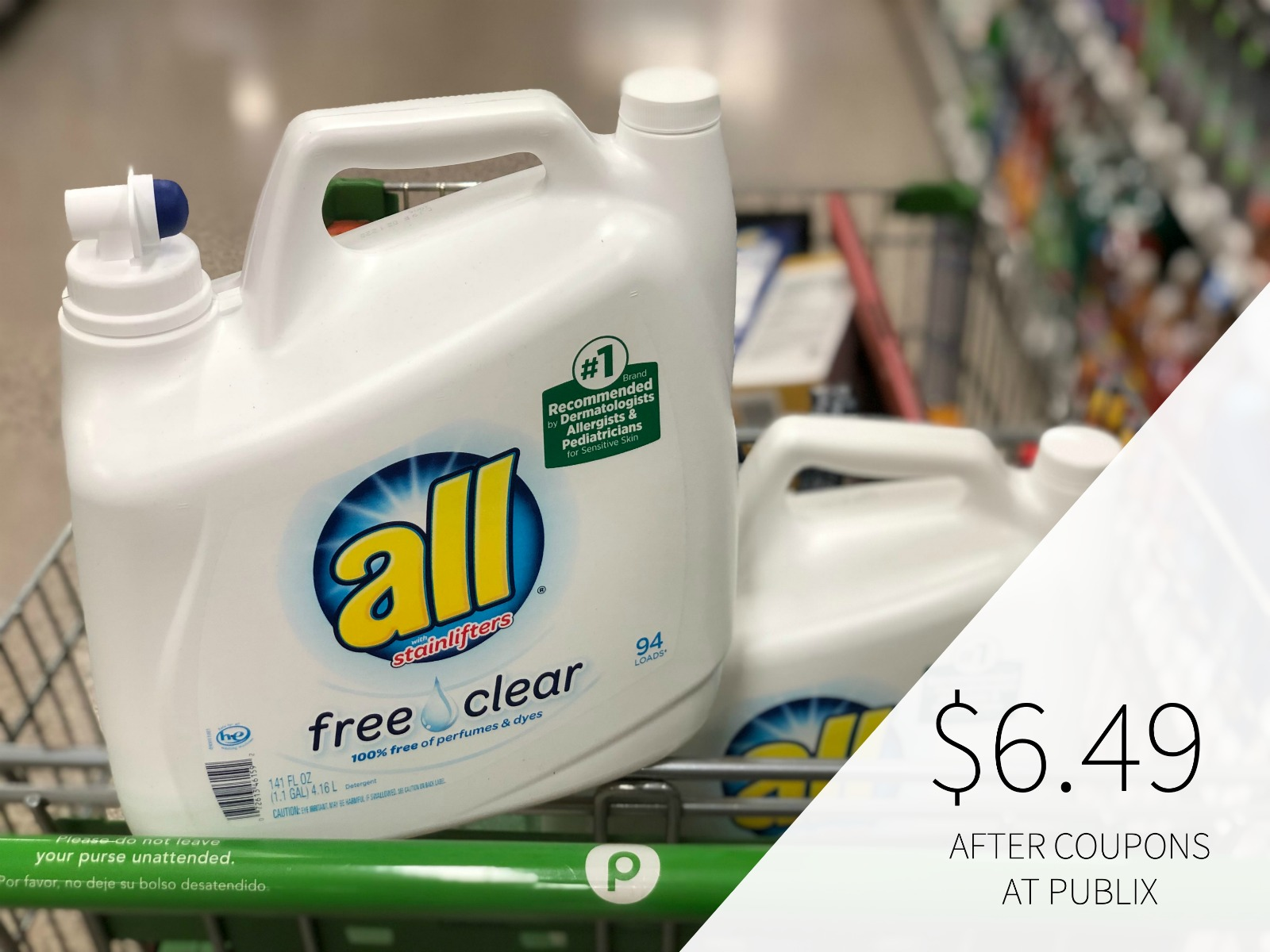 Big Bottles Of All Laundry Detergent Just $5.99 At Publix on I Heart Publix