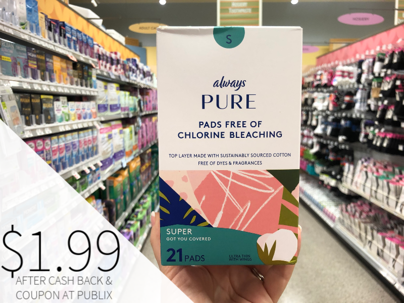 Always Pure Pads Only $1.99 At Pubilx on I Heart Publix 1