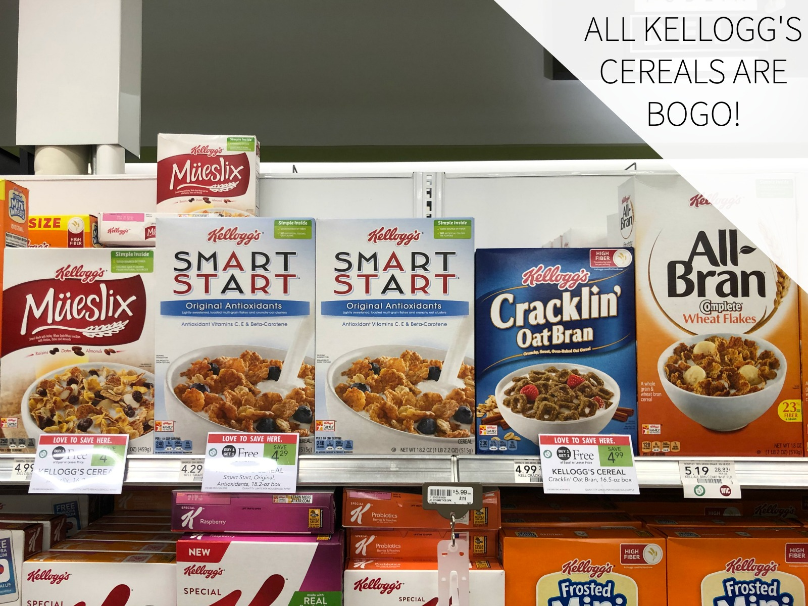 Every Single Kellogg's Cereal Is BOGO At Publix - Save On ALL Your Favorites! on I Heart Publix