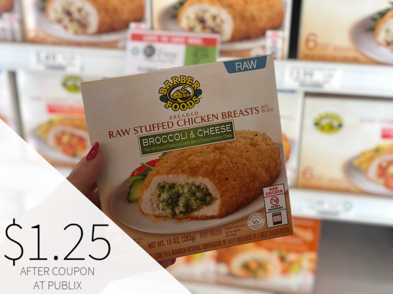 Barber Foods Stuffed Chicken Breasts Only $1.25 At Publix on I Heart Publix 1