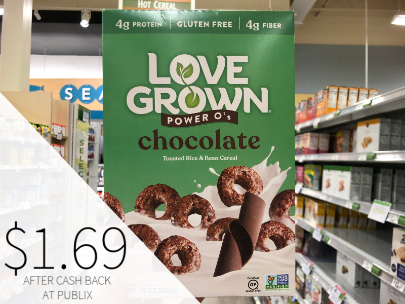 Love Grown Chocolate Power O's Cereal Only $ on I Heart Publix 1