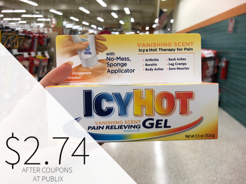 Icy Hot Pain Relieving Gel on I Heart Publix 1