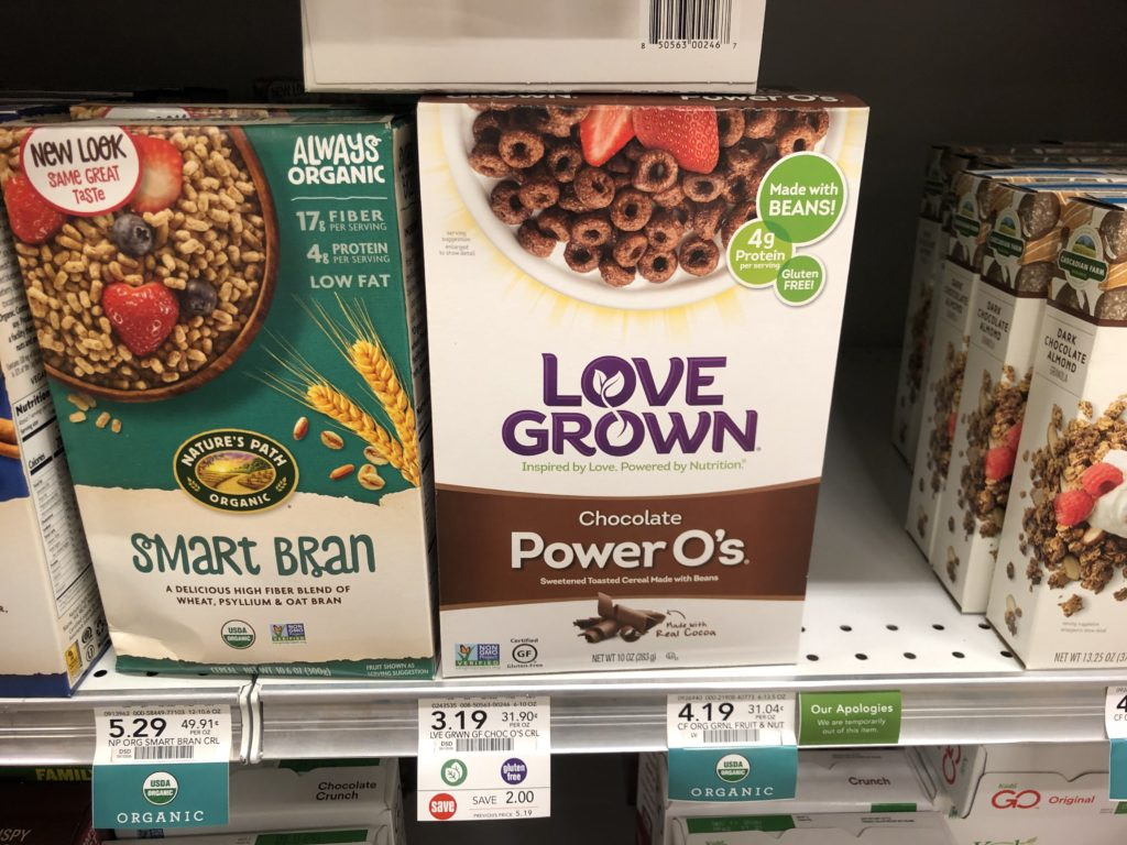 Love Grown Chocolate Power O's Cereal Only $ on I Heart Publix