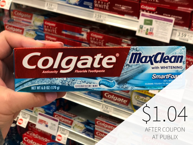 Colgate Max Toothpaste Just $1.04 At Publix on I Heart Publix 1