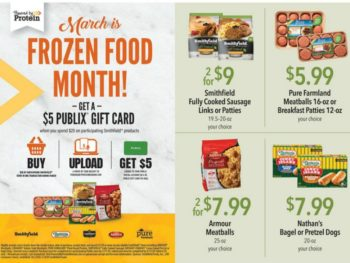 Great Time To Earn A $5 Publix Gift Card With Your Smithfield Frozen Products Purchase on I Heart Publix
