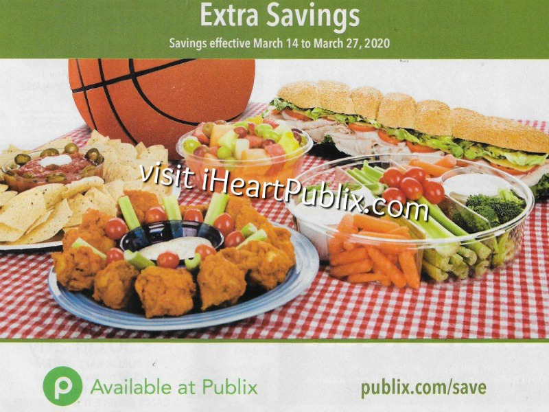 "Publix Grocery Advantage Buy Flyer – ""Extra Savings"" Valid 3/14 to 3/27 on I Heart Publix"