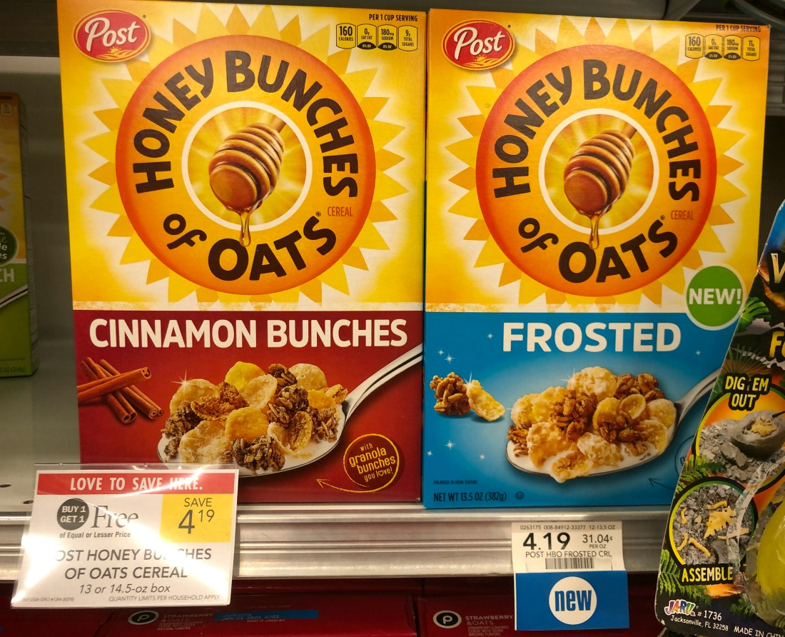 Post Honey Bunches of Oats Frosted Cereal Just $1.85 At Publix (TODAY ONLY) on I Heart Publix