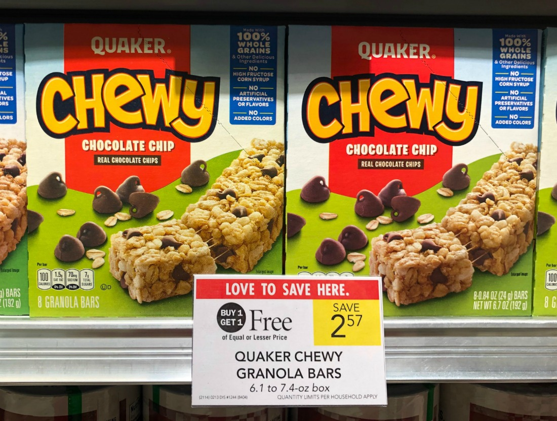 New Quaker Chewy Bars Coupon For The Publix BOGO Sale - Just 79¢ Per Box on I Heart Publix 2