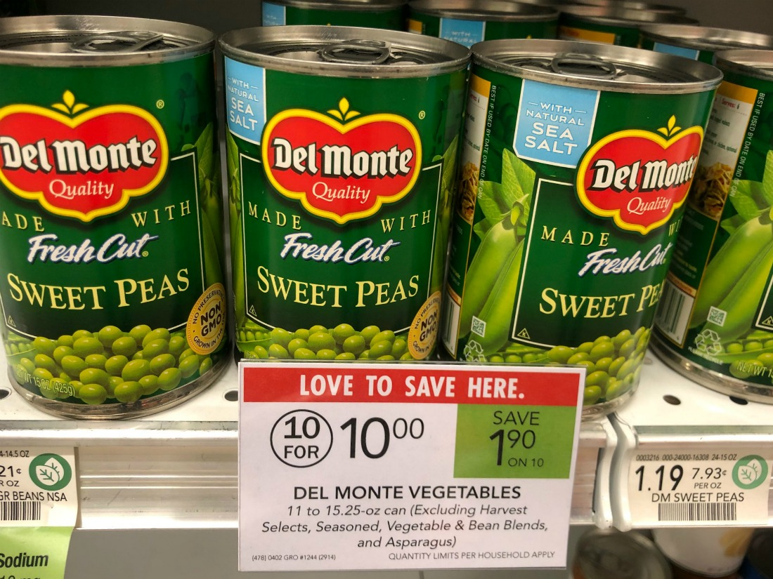 Del Monte Vegetables Only 88¢ Per Can At Publix on I Heart Publix