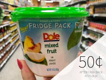 Dole Fridge Packs As Low As 25¢ At Publix on I Heart Publix 1