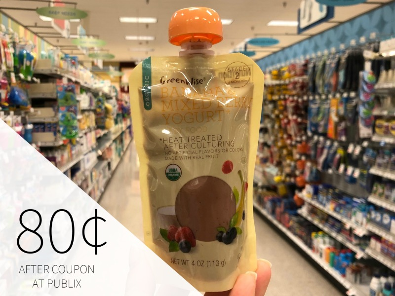Publix GreenWise Organic Baby Food Pouches - Just 80¢ on I Heart Publix