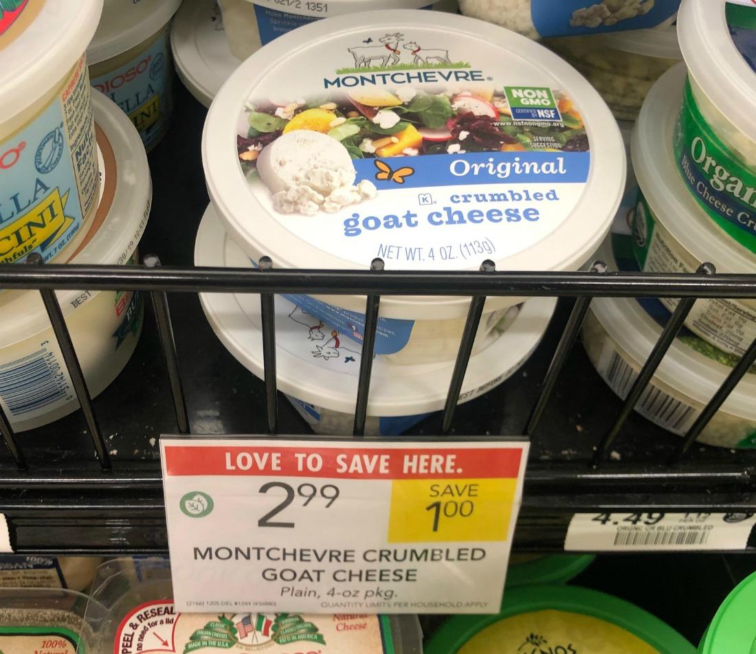 Montchevre Crumbled Goat Cheese Just $1.99 on I Heart Publix