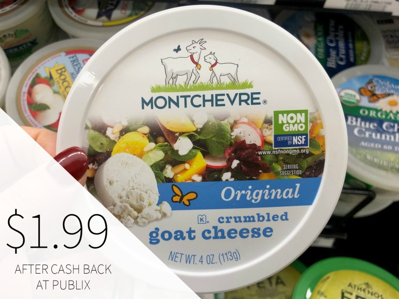 Montchevre Crumbled Goat Cheese Just $1.99 on I Heart Publix 1