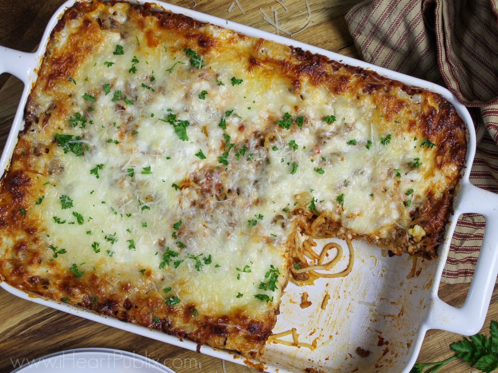 Baked Spaghetti - Super Meal To Go With The Sales At Publix on I Heart Publix