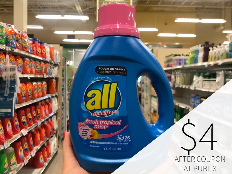 All Laundry Detergent Just $4 At Publix on I Heart Publix