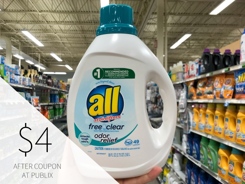 BIG Bottles Of All Laundry Detergent Just $4 At Publix on I Heart Publix 1