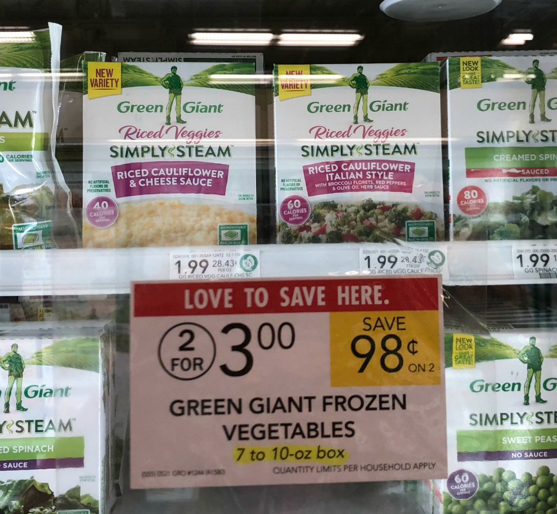 Green Giant Riced Veggies Just 50¢ At Publix on I Heart Publix 1