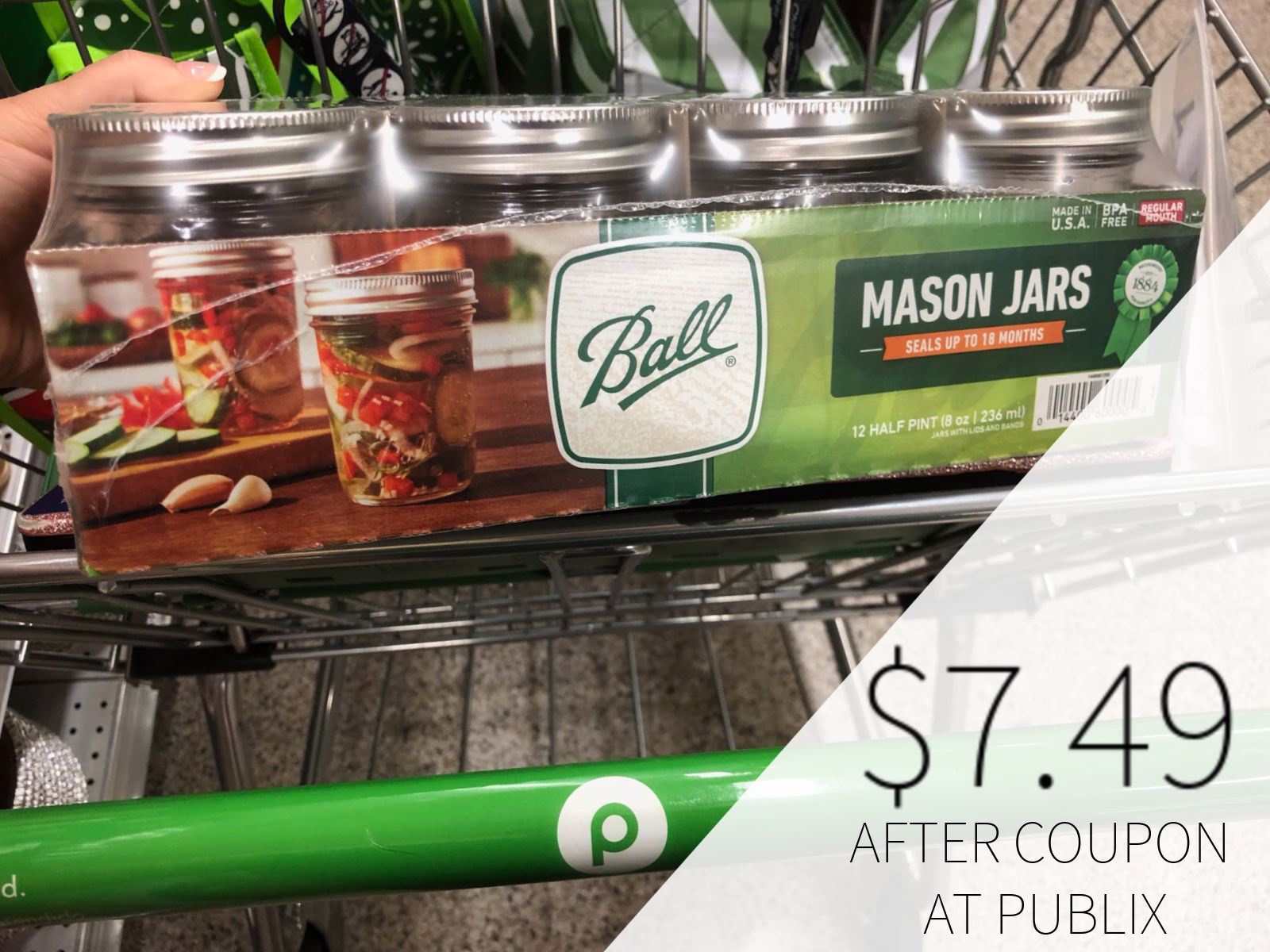 New Ball Jars Coupon – 12 Packs As Low As $7.49 At Publix on I Heart Publix