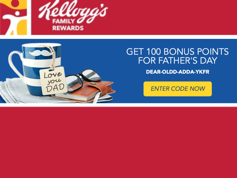 New Kellogg's Family Rewards Code - Add 100 Points To Your Account on I Heart Publix 8