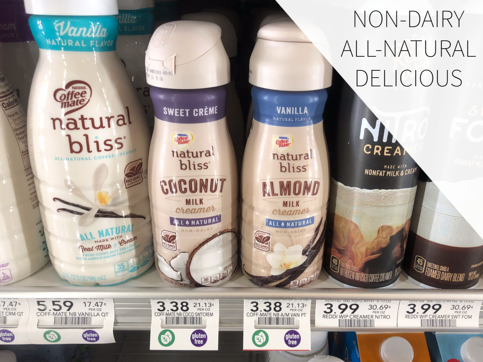 Try natural bliss® Sweet Crème Coconut Milk & natural bliss® Vanilla Almond Milk & Enjoy All-Natural, Non-Dairy Deliciousness! on I Heart Publix