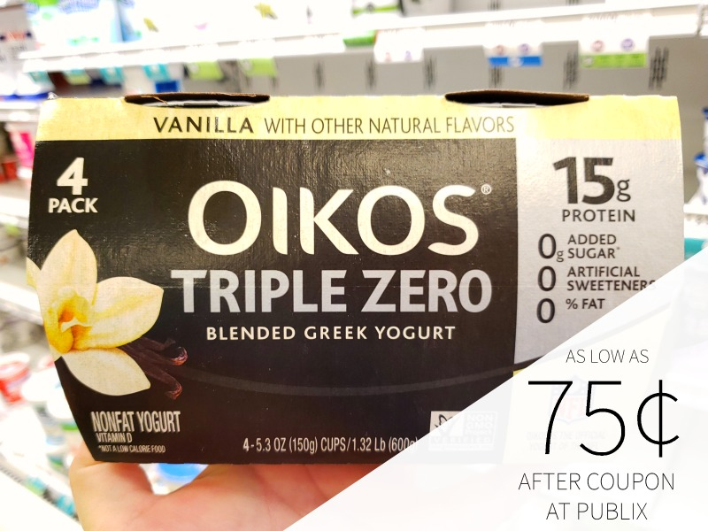 Dannon Oikos Blended Greek 4-pk As Low As 75¢ At Publix on I Heart Publix