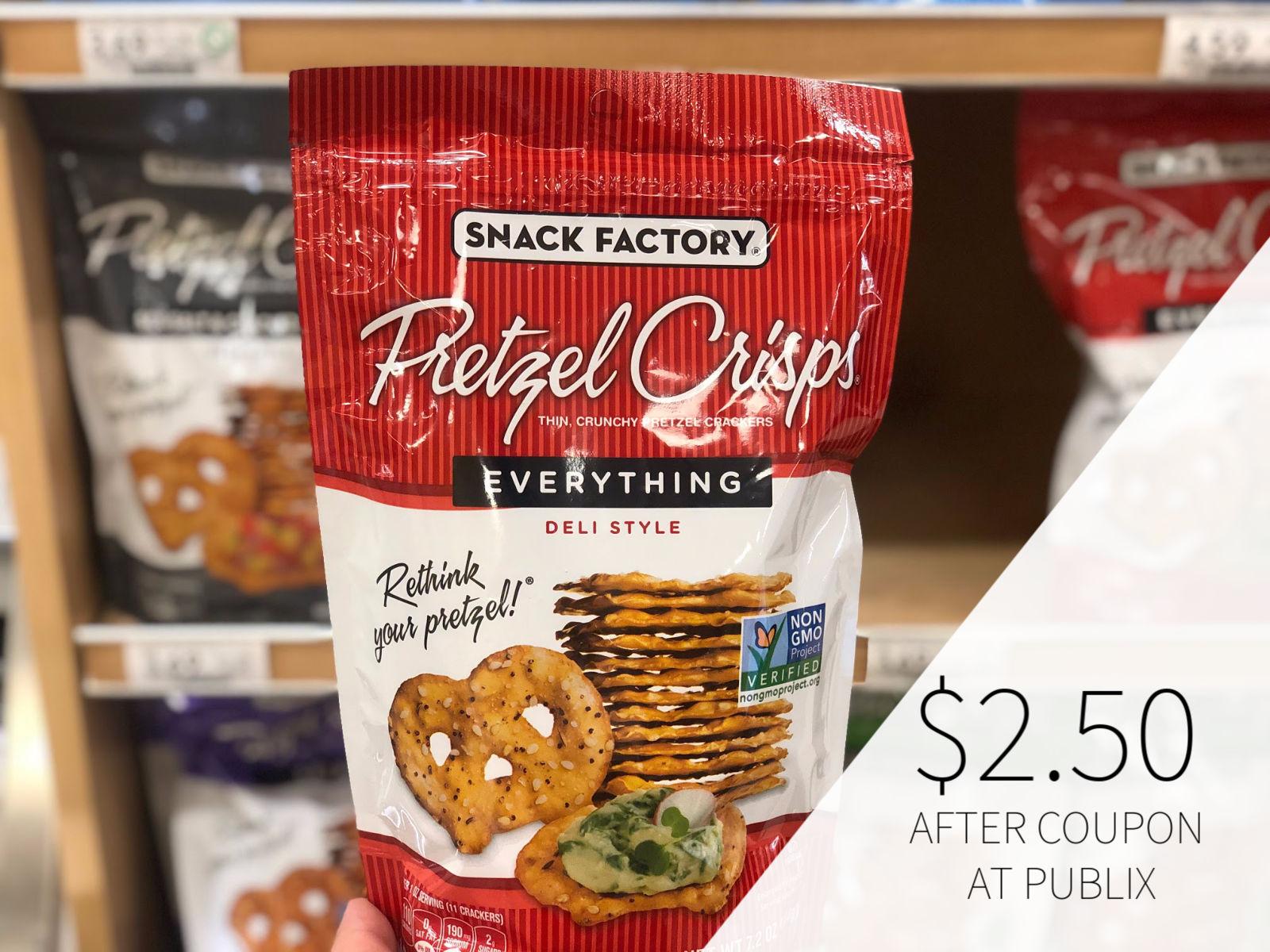 Snack Factory Pretzel Crisps Just $1.96 Per Bag At Publix on I Heart Publix