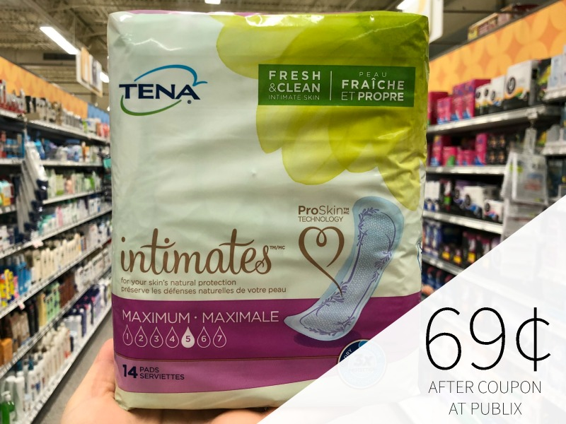 Tena Pads As Low As FREE At Publix on I Heart Publix 3