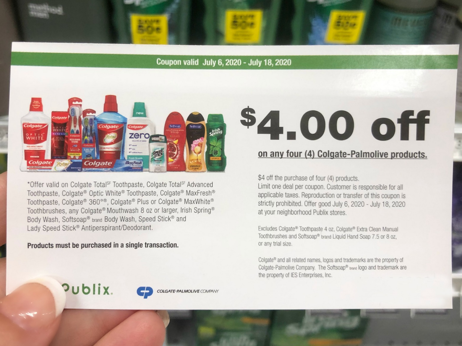 New Colgate-Palmolive Publix Coupon Valid Through 1/25 on I Heart Publix